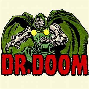 "DR DOOM """"MARVEL"""" Comics Vintage logo Tee Shirt - T"