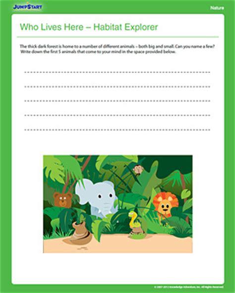 animal habitats worksheets for grade worksheets for