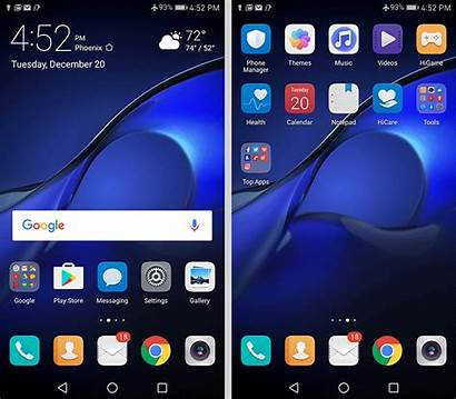Huawei Mate Emui Screen App Drawer Without