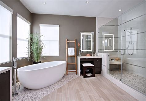 floor and decor orange county orange county wood plank tile bathroom contemporary with stripe mosaic tiles towel ladder