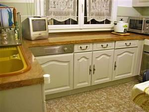 repeindre sa cuisine en blanc cuisine rustique relooke With peindre des poutres en bois 18 repeindre cuisine en gris cuisine gris de sude brosser