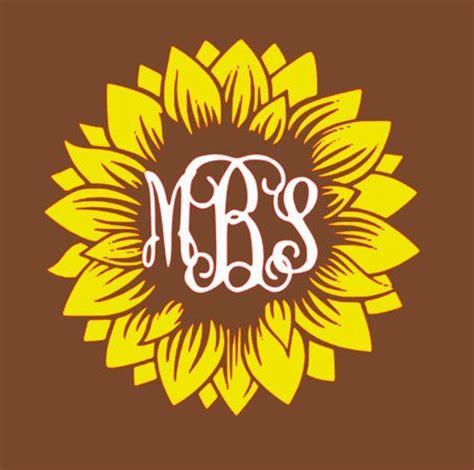 sunflower monogram svg monogram decal vinyl monogram monogram stickers