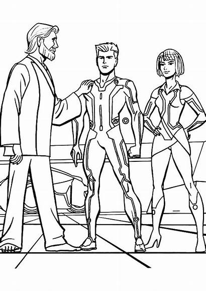 Coloring Tron Pages Legacy Kevin Take Proud