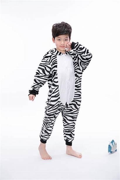 Onesie Pajamas Animal Teens Costumes Kigurumi Zebra
