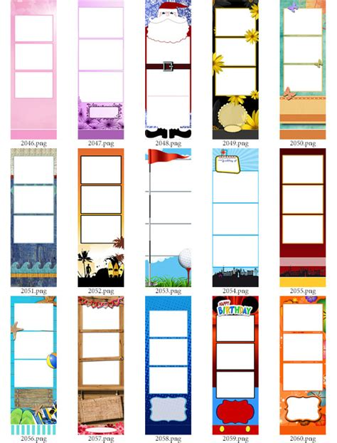photo strip templates bundle abc  darkroom