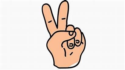 Finger Cartoon Victory Hand Animation Transparent Illustration