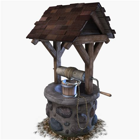 3D model Water Well VR / AR / low-poly MAX OBJ FBX MA MB
