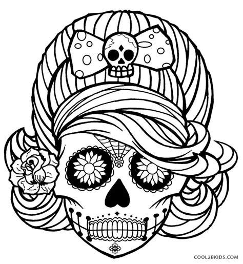 sugar skull coloring pages getcoloringpagescom