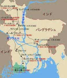バングラデシュ:バングラデシュ旅行地図