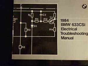 1984 Bmw 633csi Electrical Troubleshooting Manual Wiring