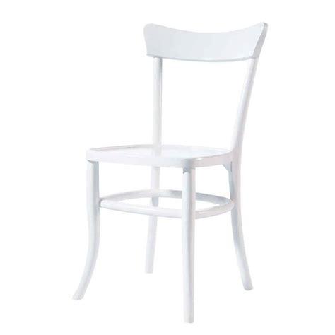 chaise en bois massif blanche bistrot maisons du monde
