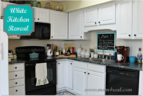 white kitchen reveal    mom  real
