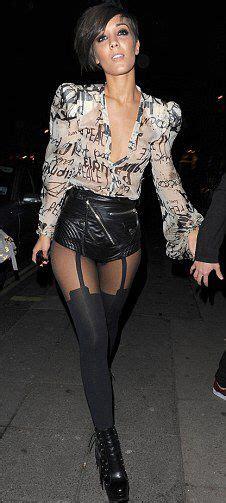 Leather hosiery inspo   Celebrities in stockings, High ...