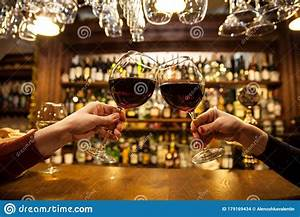 Ladies is bar with wine stock photo. Image of motion - 179169434