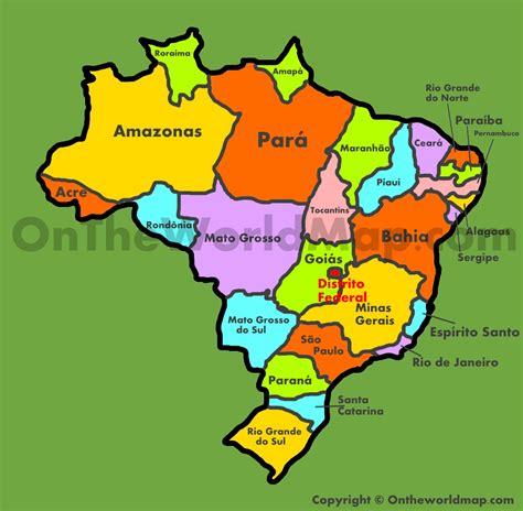brazil states map administrative map  brazil