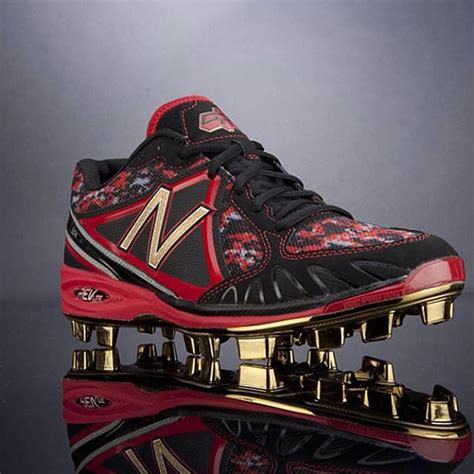 balance gold plated cleats  dustin pedroia