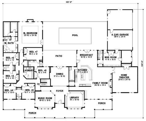 7 Bedrooms, 6 Bath, 7028 Sq Ft Plan
