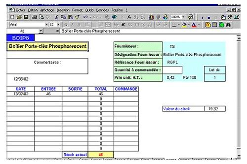 baixar gestion de stock excel exemple