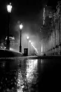 Black and White Rainy Street Scenes