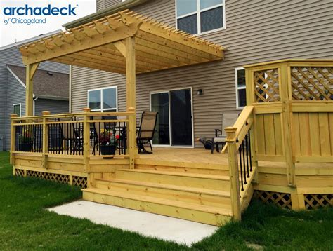 backyard wood deck deck design ideas by archadeck of chicagoland outdoor