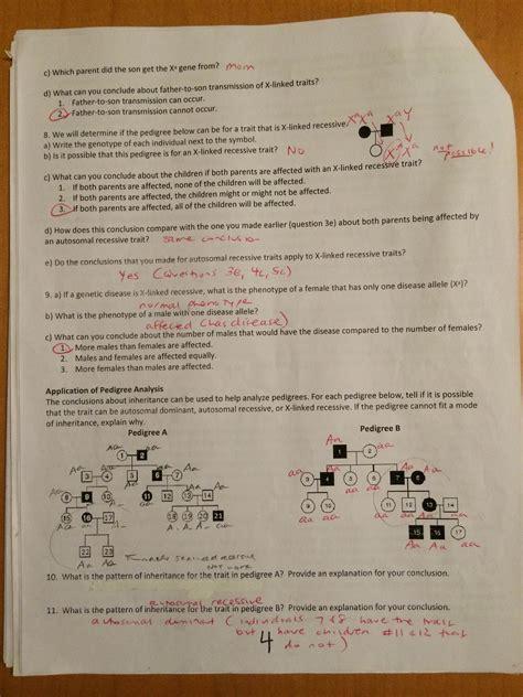 pedigree analysis worksheet photos getadating