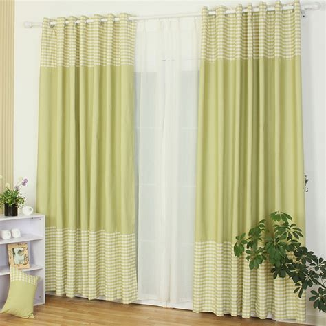 sales promotion green plaid designer curtains and drapes