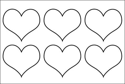 heart template printable heart templates