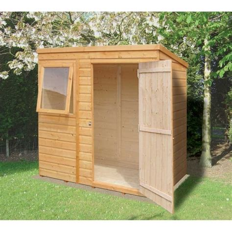 Shiplap Shed by Shiplap Pent Garden Shed 6ft X 4ft Overlap With Single Door