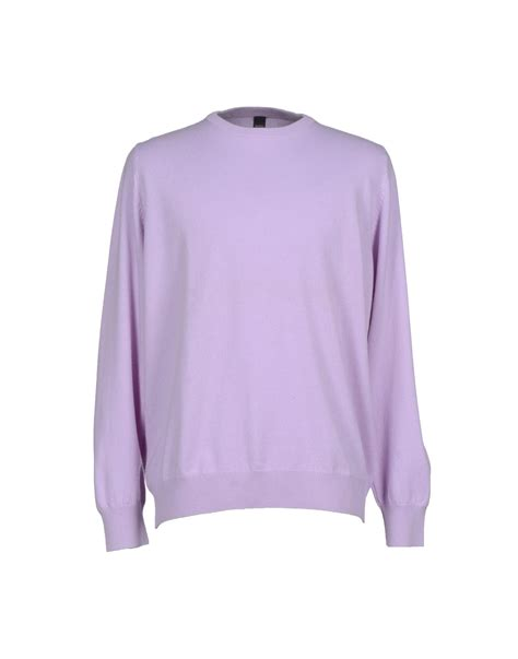 lilac sweater barba jumper in purple for lilac lyst