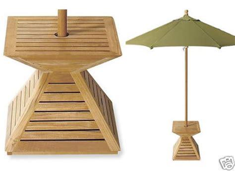 grade  teak wood umbrella stand cover umbrella base
