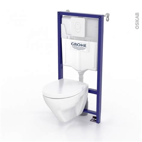 pack wc grohe suspendu b 226 ti mural rapid sl cuvette zapa plaque blanche oskab