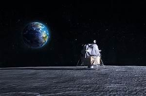 Lunar Lander - Cg Render Of The Original Apollo Mission ...