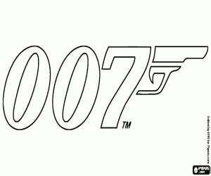 logo   james bond coloring page printable game