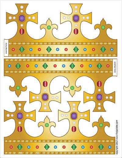 printable crowns hats  printable templates