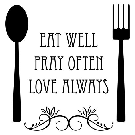 Kitchen Knives Quotes by Eat Well Spoon And Fork Wall Quotes Decal Wallquotes
