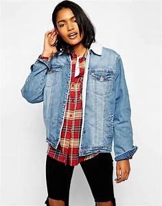 Veste En Jean Doublée Mouton Femme : comment porter sa veste en jean en hiver ~ Melissatoandfro.com Idées de Décoration