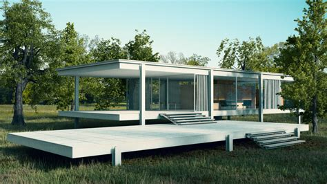 mid century modern farnsworth house by jaka777 on deviantart