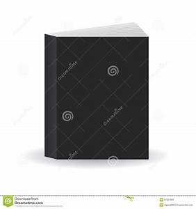 Blank Black Vector Book Cover Template, Standing On Floor ...