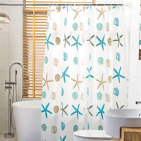 Coastal Shower Curtain by Funky White Coastal Peva Shower Curtains