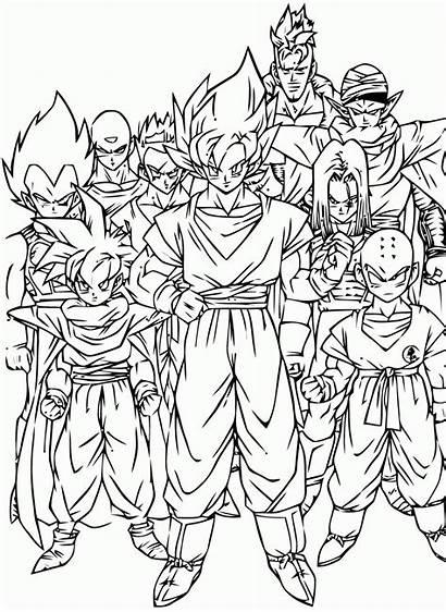 Dragon Ball Colorir Todos Desenhos
