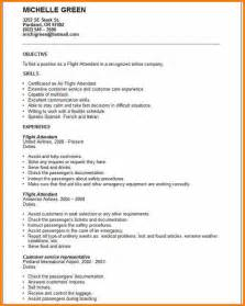 resume with no experience objective corporate flight attendant resume