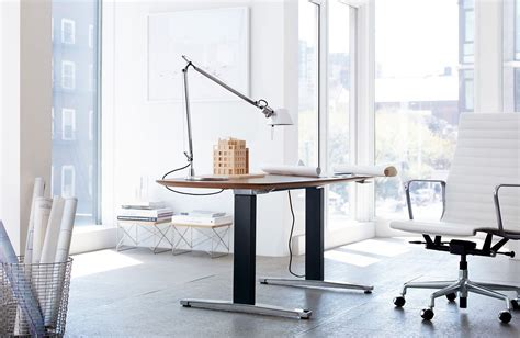 design within reach desk l renew executive sit to stand desk design within reach