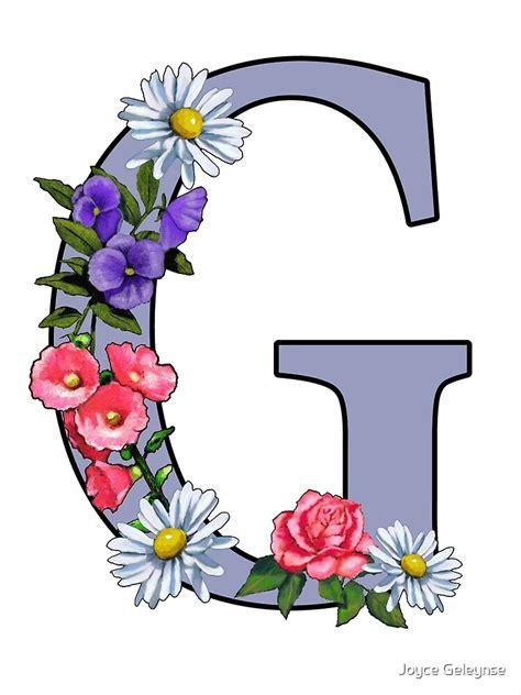 letter  initial  monogram  flowers art canvas print  joyce redbubble