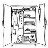 Closet Drawing Door Clipart Open Wardrobe Clothes Kleiderschrank Wooden Clip Doors Drawings Pleasing Vectors Getdrawings Hanger Royalty Castle Cliparts Vector sketch template