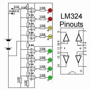 schematic wiring diagram audio vu level meter circuit With pocket vu meter