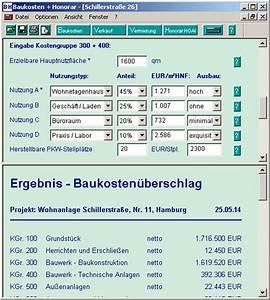 Honorarberechnung Hoai Beispiel : baukosten und honorar hoai software ~ Lizthompson.info Haus und Dekorationen