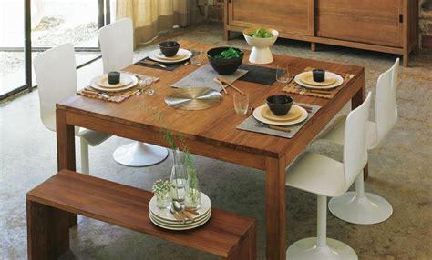 table de salle 224 manger alinea photo 2 15 table carr 233 en teck pour la cuisine