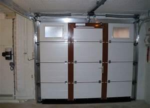 Sectionnelle plafond fournier automatisme for Porte de garage enroulable avec blinder une porte