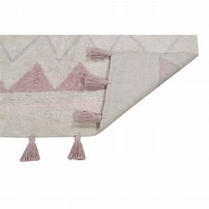Tapis Rose Pastel : tapis enfant coton lavable machine rose ethnique aztec lorena canals ~ Teatrodelosmanantiales.com Idées de Décoration