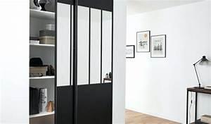 Porte Coulissante Atelier Castorama : porte de placard style atelier plaque aluminium ensemble ~ Melissatoandfro.com Idées de Décoration